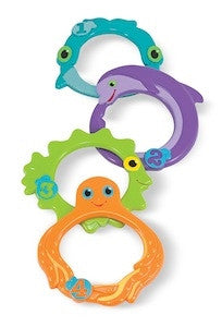 Melissa & Doug Sink & Seek Diving Pool Rings 6655