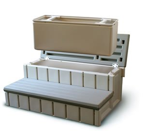 Confer Spa Step with Storage - LASS36-SC-G