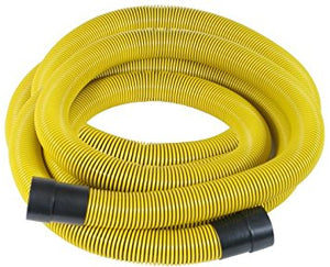 "Plastiflex HV415325  Suction - Heavy Duty Yellow & Black 3"" x 25 with cuffs"