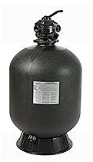 "Sta-Rite 26"" Cristal-Flo II Sand Filter ABG IG 6 POS 2"" FPT Top Mount MP Valve 350 LBS Sand"