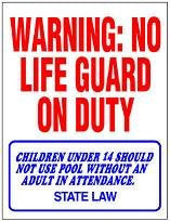 WARNING  NO LIFEGUARD ON DUTY - 90-107