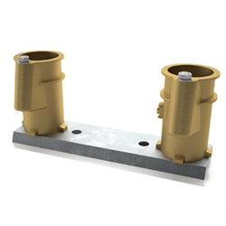"4"" Bronze Anchor Socket on bar, 8"" on ctr - PC4008BC"