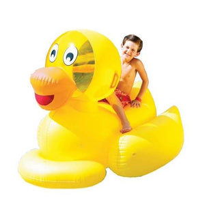 Swimline 9062 Giant Inflatable Swimming Pool Ride-On Ducky - 56-Inch