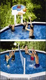 Above-Ground Pool Jam Basketball And Volleyball Combo Swimming Pool Game - 9191