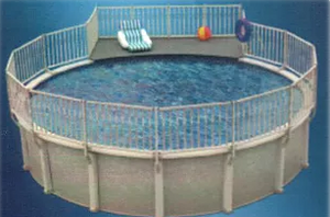 EZ Panel 6' X 9' Deck for 33' Round Oval Pool  - PIDPAT3300-A