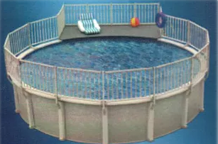 4' X 13' ADD ON DECK FOR 33' ROUND OVAL POOL - PIDRAD3000-A-STACK