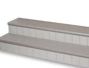 Confer Deluxe Spa Steps 74-inch, Gray - LASS74-G
