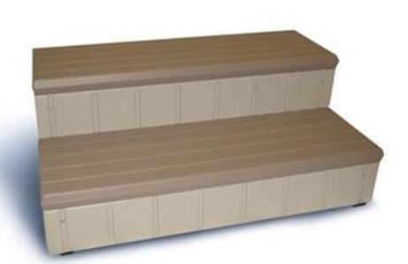 Confer Deluxe Spa Steps 74-in - Redwood - LASS74-R