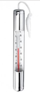 Chrome Plated Residential Thermometer