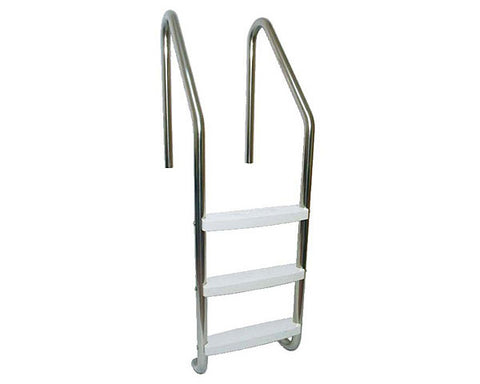 S.R. Smith 3 Step Commercial Stainless Steel Ladder - LFB-24-3B