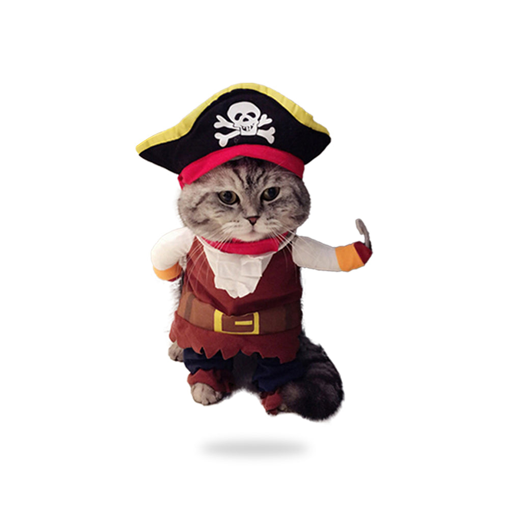 Funny Cat Costumes Pirate Suit-Halloween shop-petsoftcare-petsoftcare