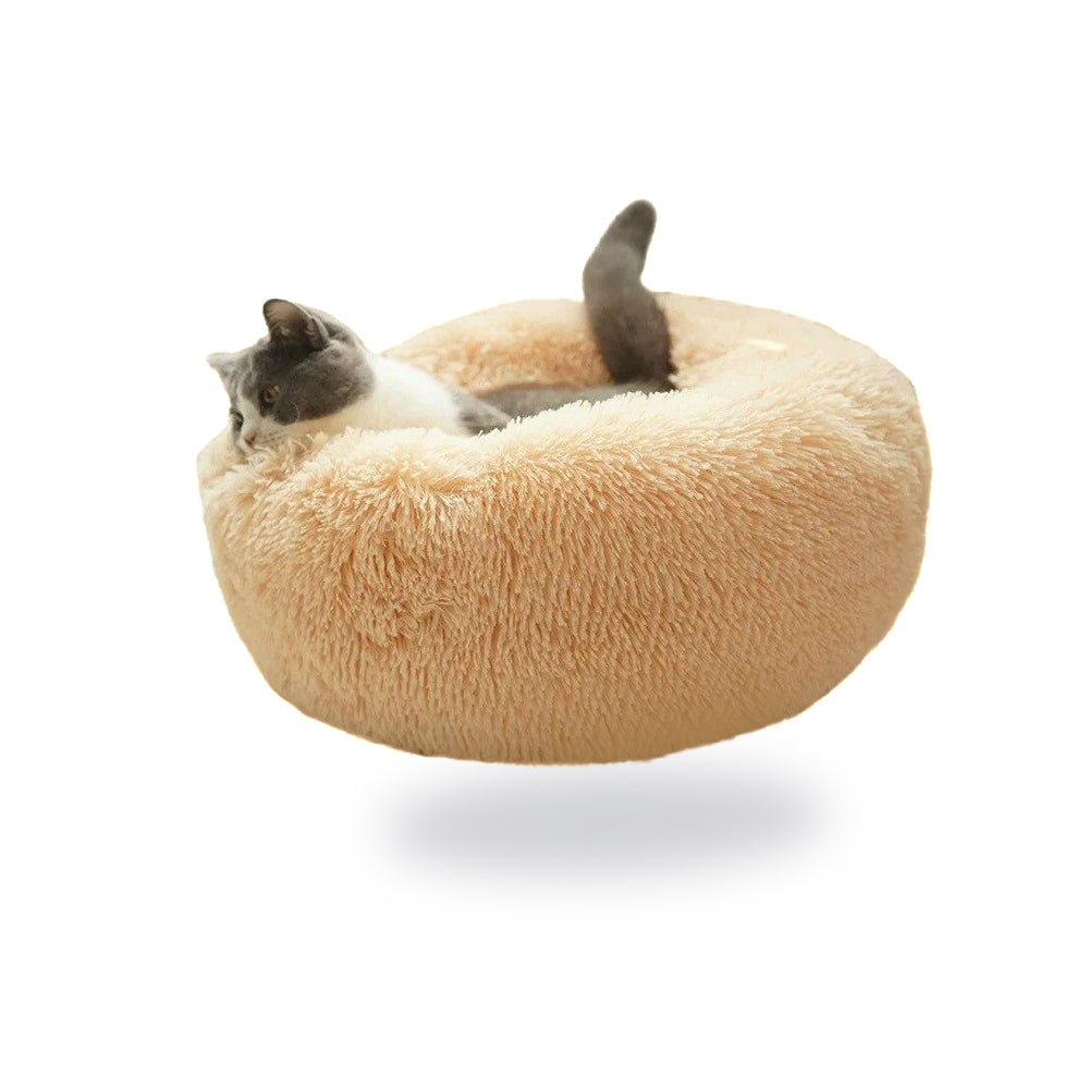 Warm Round Sleeping Beds For Pet Dogs Cat-Cat beds-petsoftcare-petsoftcare