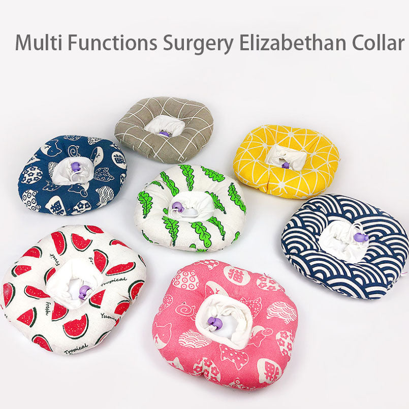 Adjustable Recovery Cone Neck Collar Soft Elizabeth Circle for Dogs Cats