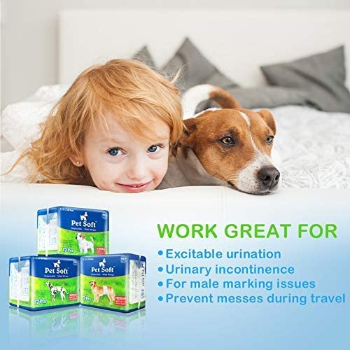 72Pcs Male Disposable Wrap Dog Diaper Pet Soft-Dog diapers-petsoftcare-petsoftcare