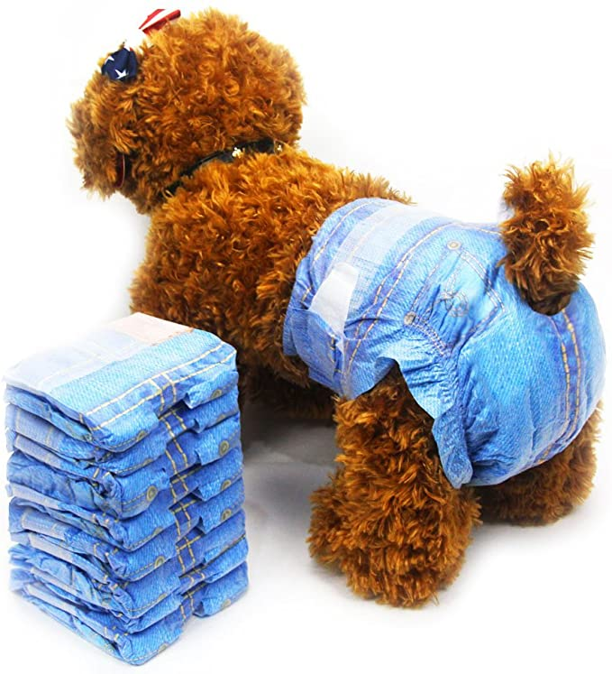 Jeans Super Absorbent Soft Pet Diapers for Female Puppy Dogs-Dog diapers-petsoftcare-petsoftcare