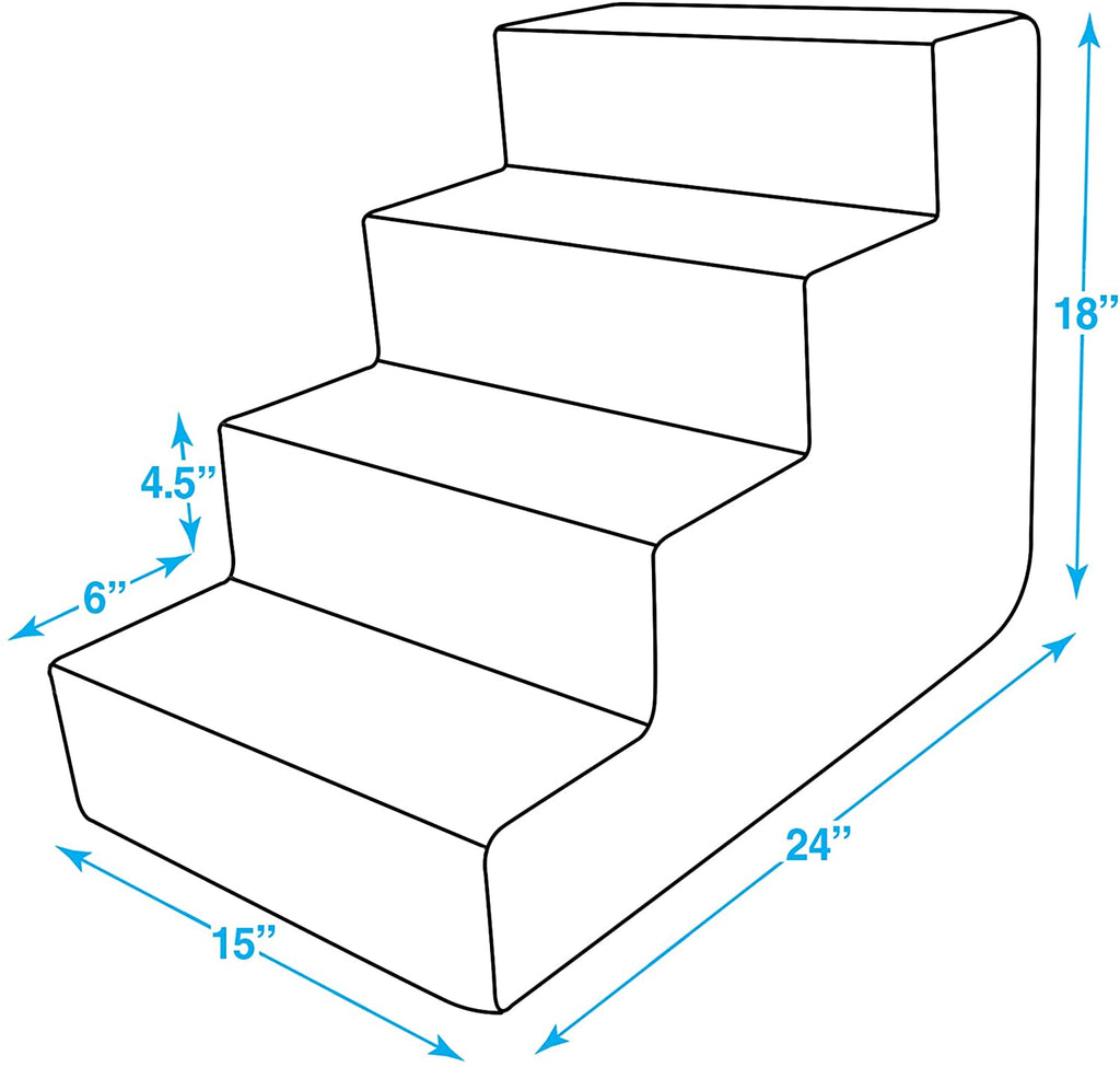 Mipetty Pet Steps And Stairs with CertiPUR-US Certified Foam for Dogs