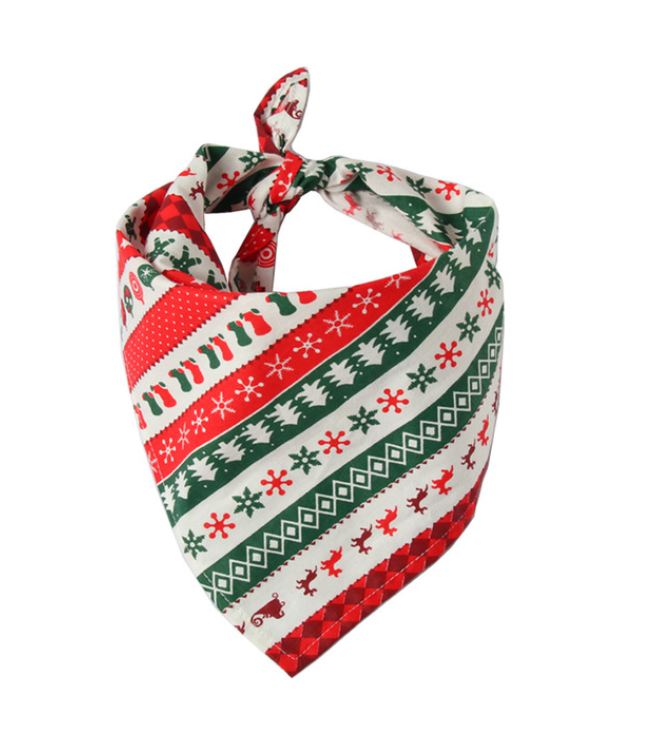 Christmas Dog Bandanas Large Pet Scarf