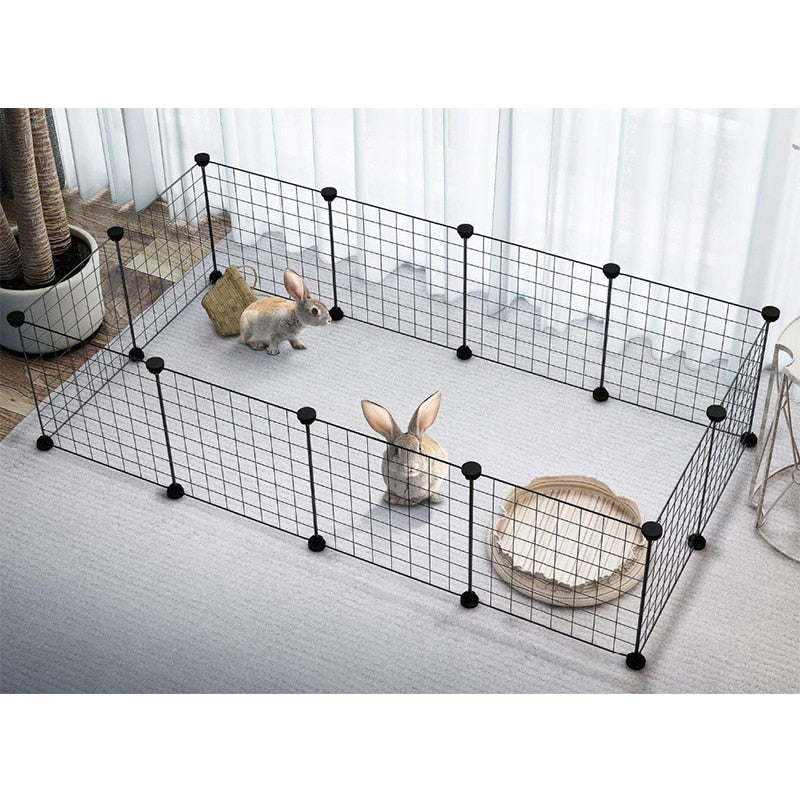 Foldable Fence Gates For Dog Cat Security Guard-Crates, Gates & Containment-petsoftcare-petsoftcare