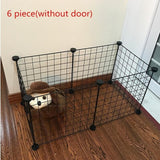 Foldable Fence Gates For Dog Cat Security Guard-Crates, Gates & Containment-petsoftcare-Black without Door-6 pcs-petsoftcare