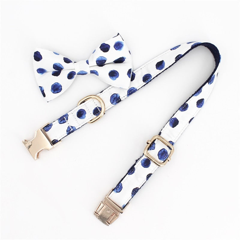 Dog Collar Bow Tie with Metal Buckle-Collars, Harnesses & Leashes-petsoftcare-petsoftcare