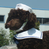 Navy Sailor Cap and Shawl Set Costumes for Cat Dog-Halloween shop-petsoftcare-petsoftcare