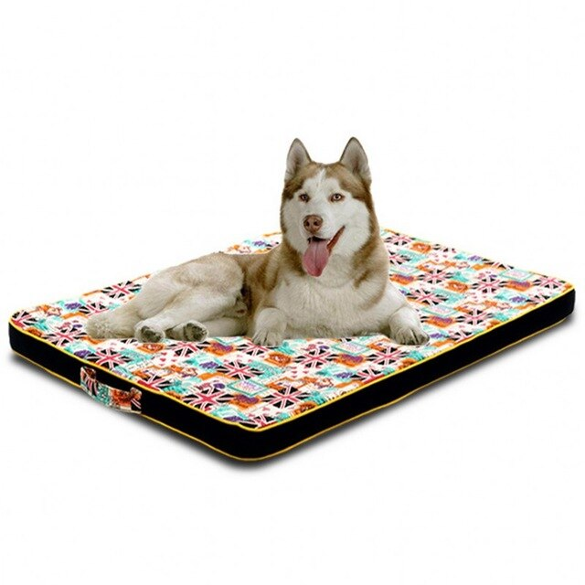 Filling Sponge Thicken Warm Dog Cushion House-Dog beds-petsoftcare-National flag-50x40cm-petsoftcare