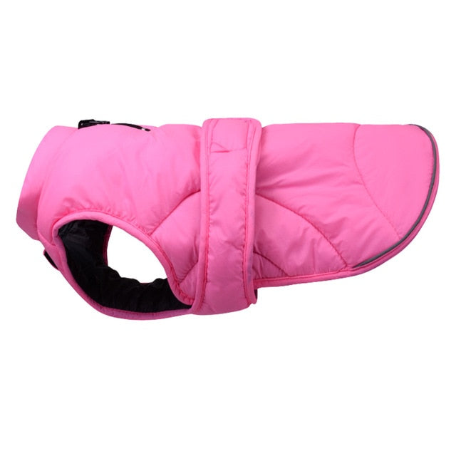 Dog Clothes Reflective Adjustable Warm Coat for Small Medium Big Dogs