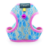 Dog Cat Lace Harness Vest Adjustable with Bell-Collars, Harnesses & Leashes-petsoftcare-Blue Harness-S-petsoftcare