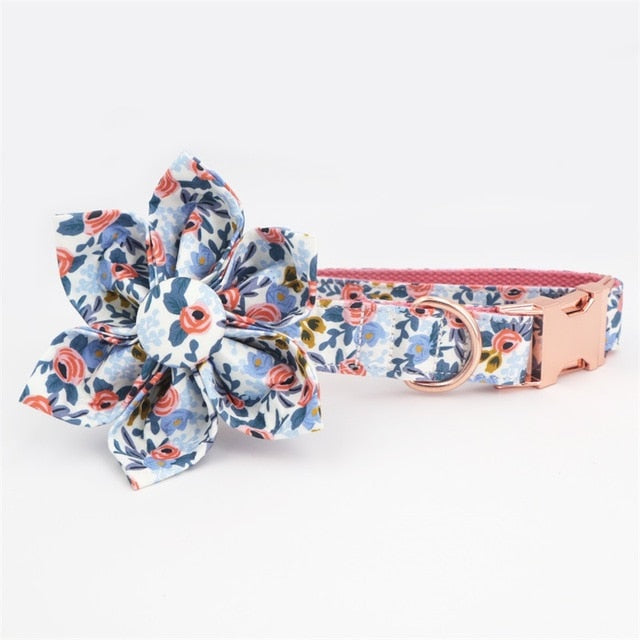 Dog bowtie collar for dog gift-Collars, Harnesses & Leashes-petsoftcare-collar with flower-S(20-30cm Length)-petsoftcare