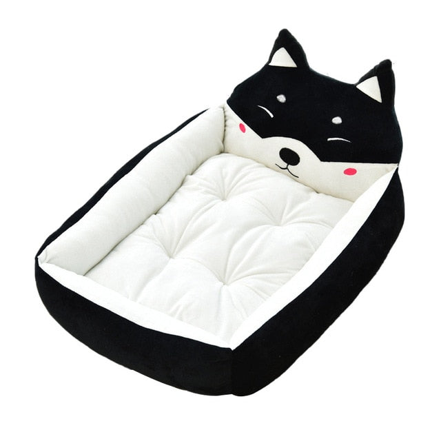 Cute Pet Winter Dog Bed Sofa-Dog beds-petsoftcare-Black Dog-50x40x12cm-petsoftcare