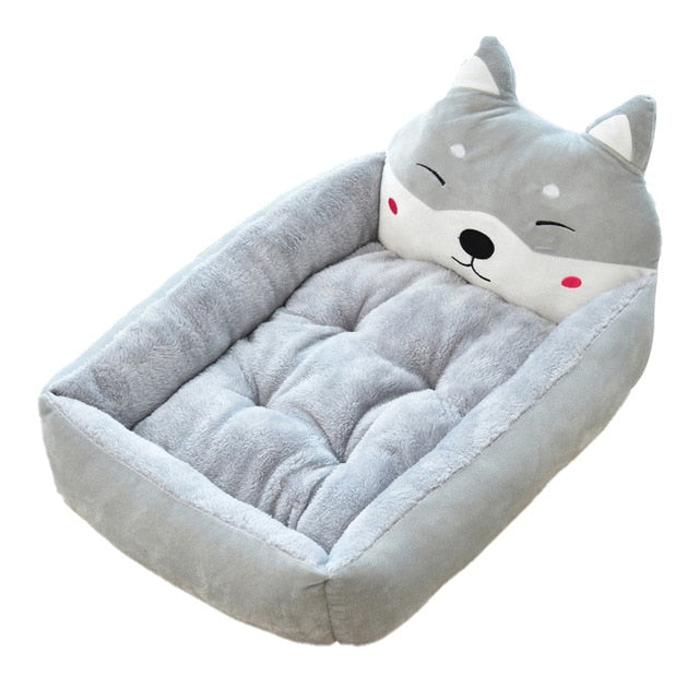 Cute Pet Winter Dog Bed Sofa-Dog beds-petsoftcare-Gray Dog-50x40x12cm-petsoftcare