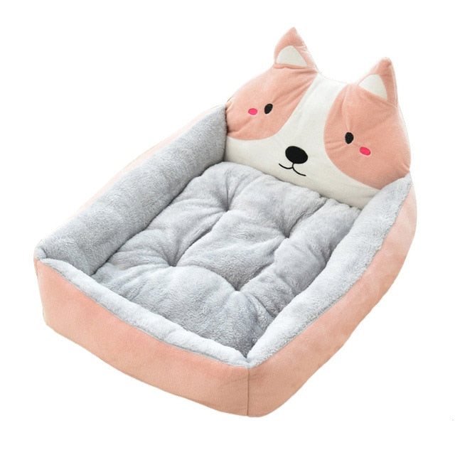 Cute Pet Winter Dog Bed Sofa-Dog beds-petsoftcare-Pink Dog-50x40x12cm-petsoftcare