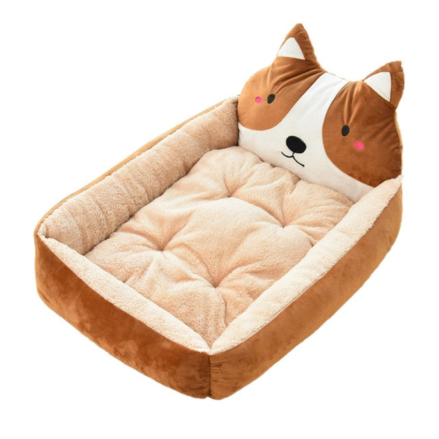 Cute Pet Winter Dog Bed Sofa-Dog beds-petsoftcare-Brown Dog-50x40x12cm-petsoftcare