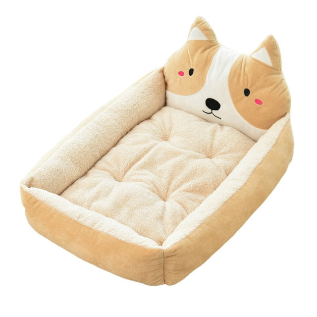 Cute Pet Winter Dog Bed Sofa-Dog beds-petsoftcare-Beige Dog-50x40x12cm-petsoftcare