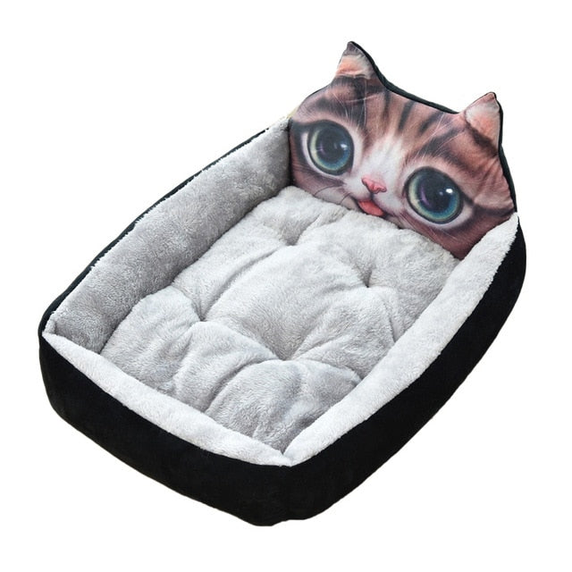 Cute Pet Winter Dog Bed Sofa-Dog beds-petsoftcare-Black Cat-50x40x12cm-petsoftcare