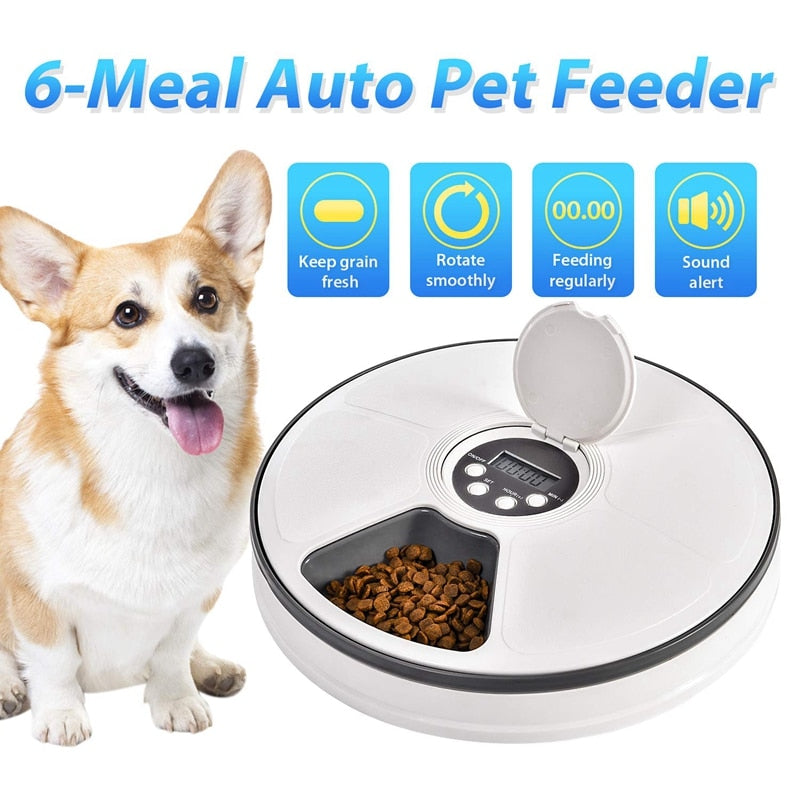 Round Automatic Pet Feeder Food Dispenser for Pet-Cat Feeder & Waterers-petsoftcare-petsoftcare
