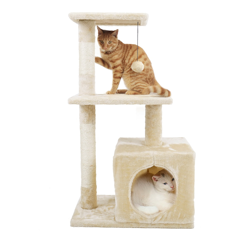 Cat Tree with Sisal-Covered Scratching Posts-Cat Trees & Condons-petsoftcare-petsoftcare
