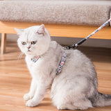 Adjustable Harness Flower Cats Leashes-Cat collars-petsoftcare-petsoftcare
