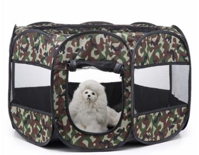 New Portable Outdoor Kennels Fences Pet Tent Houses-Crates, Gates & Containment-petsoftcare-Green-72x72x43cm-petsoftcare