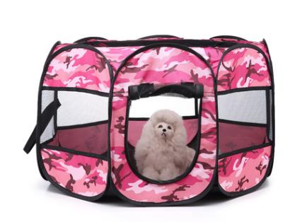 New Portable Outdoor Kennels Fences Pet Tent Houses-Crates, Gates & Containment-petsoftcare-Pink-72x72x43cm-petsoftcare
