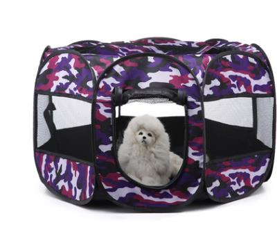 New Portable Outdoor Kennels Fences Pet Tent Houses-Crates, Gates & Containment-petsoftcare-Purple-72x72x43cm-petsoftcare