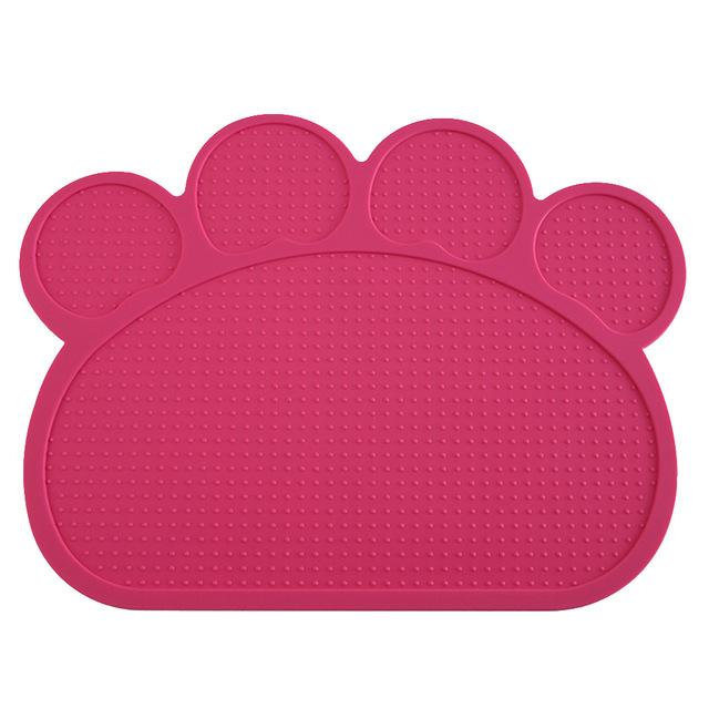 Dog Feeding Placemat easy Washing-Dog toys-petsoftcare-Rose Red-petsoftcare