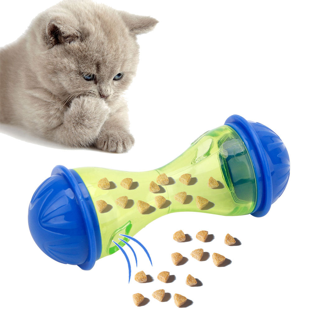 Plastic Pets Leakage Food Ball Pet Training Exercise Fun Bowl-Cat toys-petsoftcare-petsoftcare