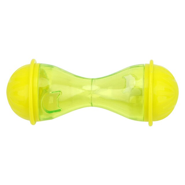 Plastic Pets Leakage Food Ball Pet Training Exercise Fun Bowl-Cat toys-petsoftcare-Yellow-petsoftcare