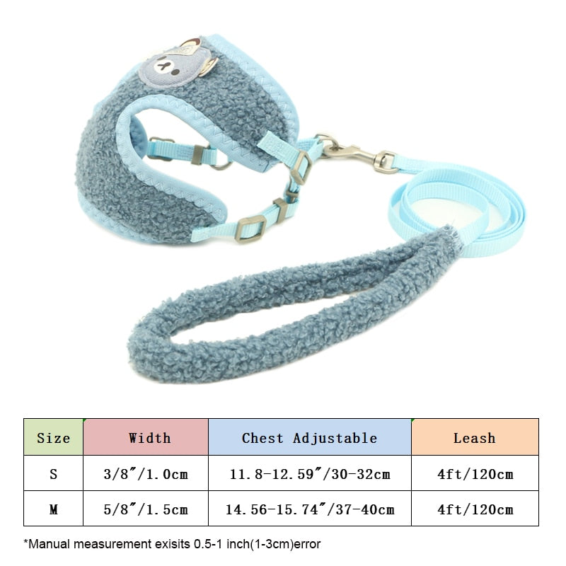Breathable Dog Harness Leash Vest Adjustable-Collars, Harnesses & Leashes-petsoftcare-petsoftcare