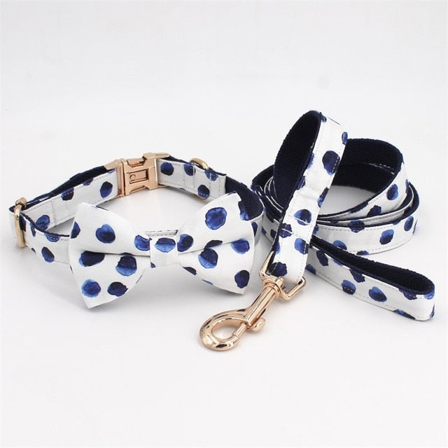 Dog Collar Bow Tie with Metal Buckle-Collars, Harnesses & Leashes-petsoftcare-collar bow leash-XS-petsoftcare