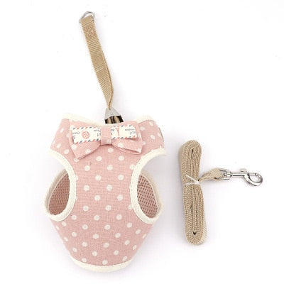 Cute dog Cat Harness and Leash Set-Collars, Harnesses & Leashes-petsoftcare-1-bust 20-40cm-petsoftcare