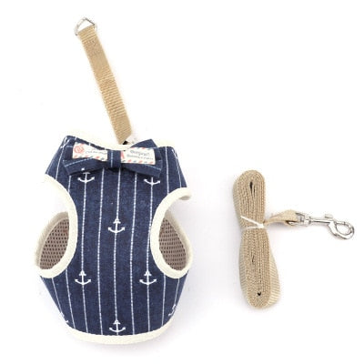 Cute dog Cat Harness and Leash Set-Collars, Harnesses & Leashes-petsoftcare-3-bust 20-40cm-petsoftcare
