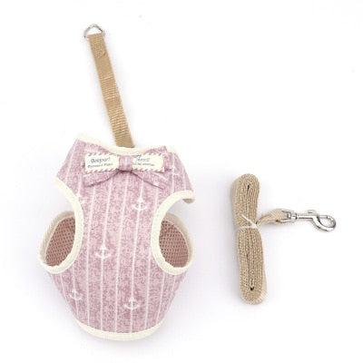 Cute dog Cat Harness and Leash Set-Collars, Harnesses & Leashes-petsoftcare-5-bust 20-40cm-petsoftcare