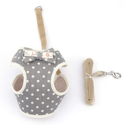 Cute dog Cat Harness and Leash Set-Collars, Harnesses & Leashes-petsoftcare-7-bust 20-40cm-petsoftcare